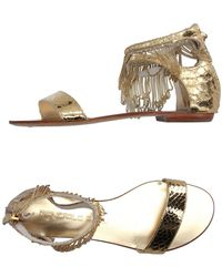 Giancarlo Paoli Sandals - Metallic