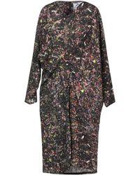 Anntian Knee-length Dress - Black
