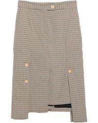 Eudon Choi 3/4 Length Skirt - Multicolour