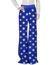 Gareth Pugh Embroidered Wool-blend Flared Pants - Blue