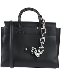 Paco Rabanne Tote Bag With Chain Detail - Black