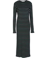 Kéji Striped Stretch Cotton-blend Midi Dress - Black