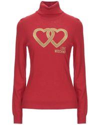 Love Moschino Cuello alto - Rojo