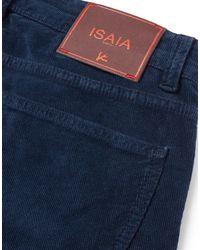 Isaia Pantalon - Bleu