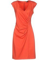 Peserico Short Dress - Orange