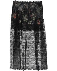 Paco Rabanne Long Skirt - Black
