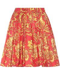 Versace Knee Length Skirt - Red