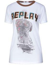 Replay T-shirts - Weiß