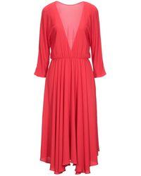 Jucca Vestido midi - Rojo