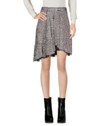 Isabel Marant Mini Skirt - Metallic
