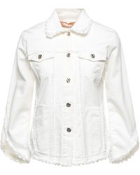 Blumarine Denim Outerwear - White