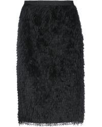 Bruno Manetti Knee Length Skirt - Black