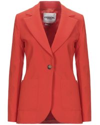 Essentiel Antwerp Suit Jacket - Red