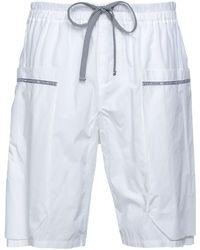 Emporio Armani Shorts & Bermuda Shorts - White