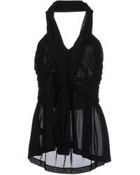 Les Copains Short Sleeve T-shirt - Black