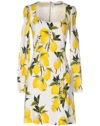 Dolce & Gabbana Vestito corto - Giallo