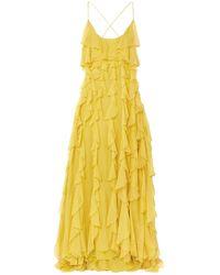 Valentino Langes Kleid - Gelb