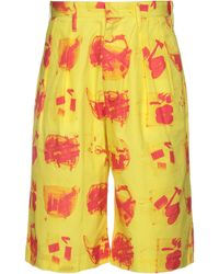 Flagstuff Cropped Trousers - Yellow