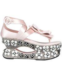 Miu Miu Toe Post Sandals - Pink