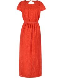 Sessun 3/4 Length Dress - Orange