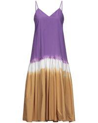 Sea Knee-length Dress - Purple