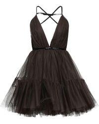 BROGNANO Short Dress - Brown