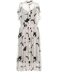 Peserico 3/4 Length Dress - Gray