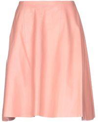 Nina Ricci Knee Length Skirt - Pink