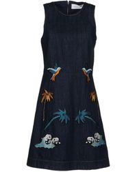 Victoria, Victoria Beckham Vestito corto - Blu