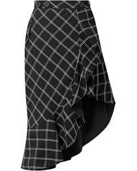 Self-Portrait Midi Skirt - Black