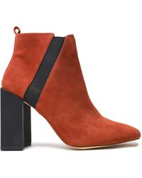 Halston Ankle Boots - Red
