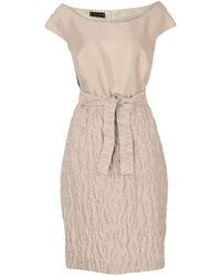 Botondi Milano Knee-length Dress - Natural