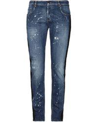Les Hommes Denim Trousers - Blue