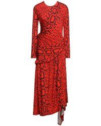 Preen By Thornton Bregazzi Midi Dress - Red