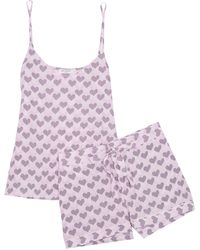 Equipment Layla Printed Washed-silk Pyjama Set - Pink