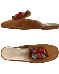 Car Shoe Slippers - Brown