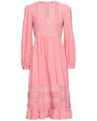 Manoush Vestido midi - Rosa