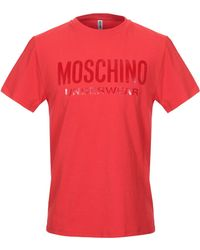 Moschino Tricot de peau - Rouge