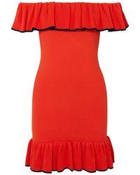 Rebecca Vallance Short Dress - Orange