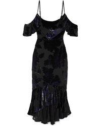 Marchesa notte Midi Dress - Blue
