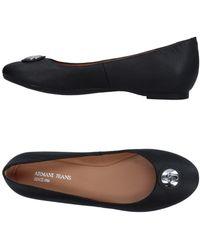 Armani Jeans Bailarinas - Negro