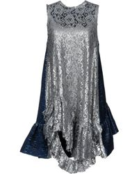 ANAЇS JOURDEN Short Dress - Metallic
