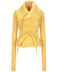 Rick Owens Lilies Overcoat - Yellow