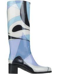 Emilio Pucci Knee Boots - Purple