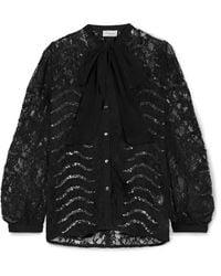 Temperley London Camisa - Negro