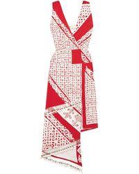 Altuzarra 3/4 Length Dress - Red