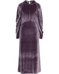 THE M.. Robe midi - Violet