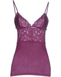 Patrizia Pepe Sleeveless Undershirt - Purple