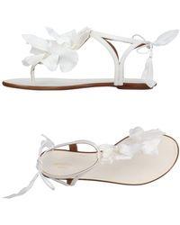 Aquazzura Toe Post Sandal - White