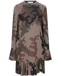 Satine Label Short Dress - Brown
